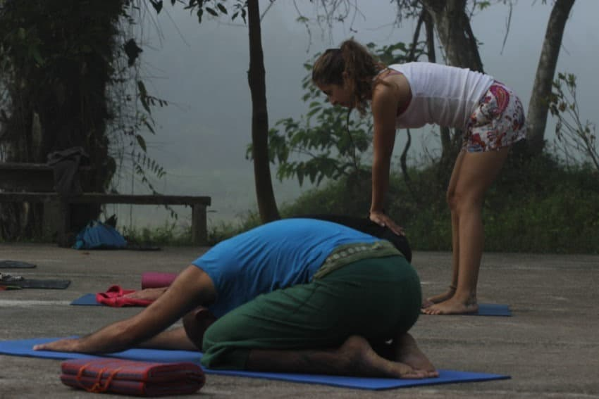 Joga spokojna. Poranna lekcja, Tajlandia, Paksong, Eco-Logic Yoga Retreat, Mar 2016