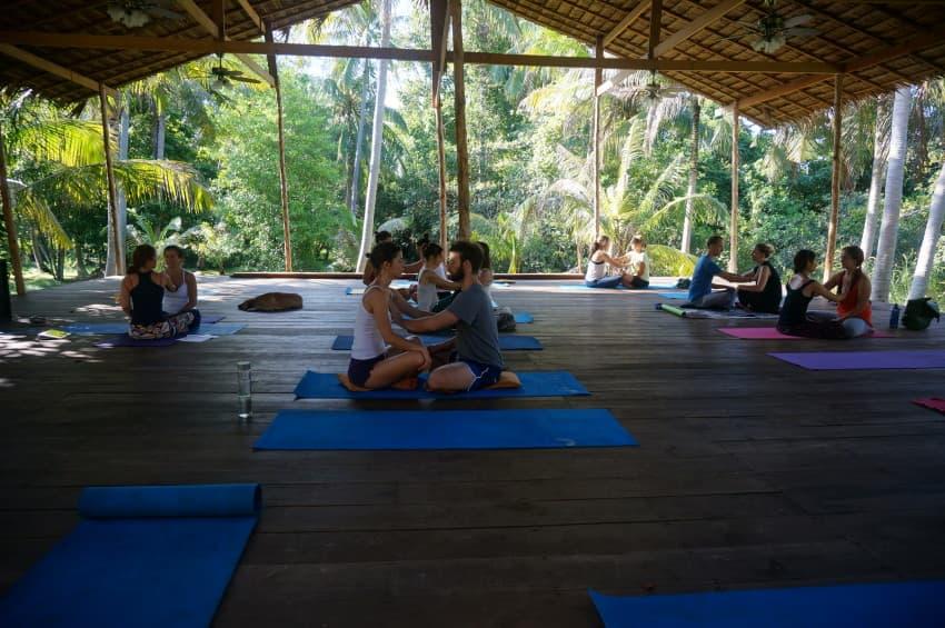Joga spokojna - Zajęcia Hatha Jogi, Tajlandia, Koh Phangan, Samma Karuna School of Awakening and Healing, Lis 2014