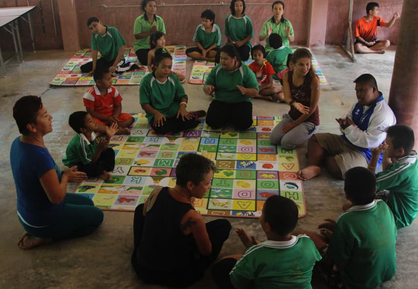 Joga dla dzieci, Tajlandia, Paksong, Thai Child Development Foundation, Mar 2016